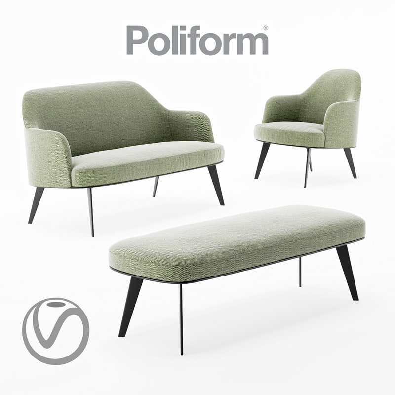 jane poliform chair sofa 3D model
