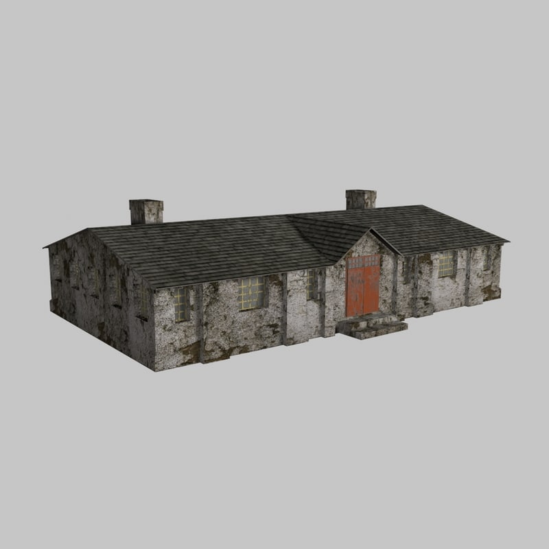 old barrack 3D model