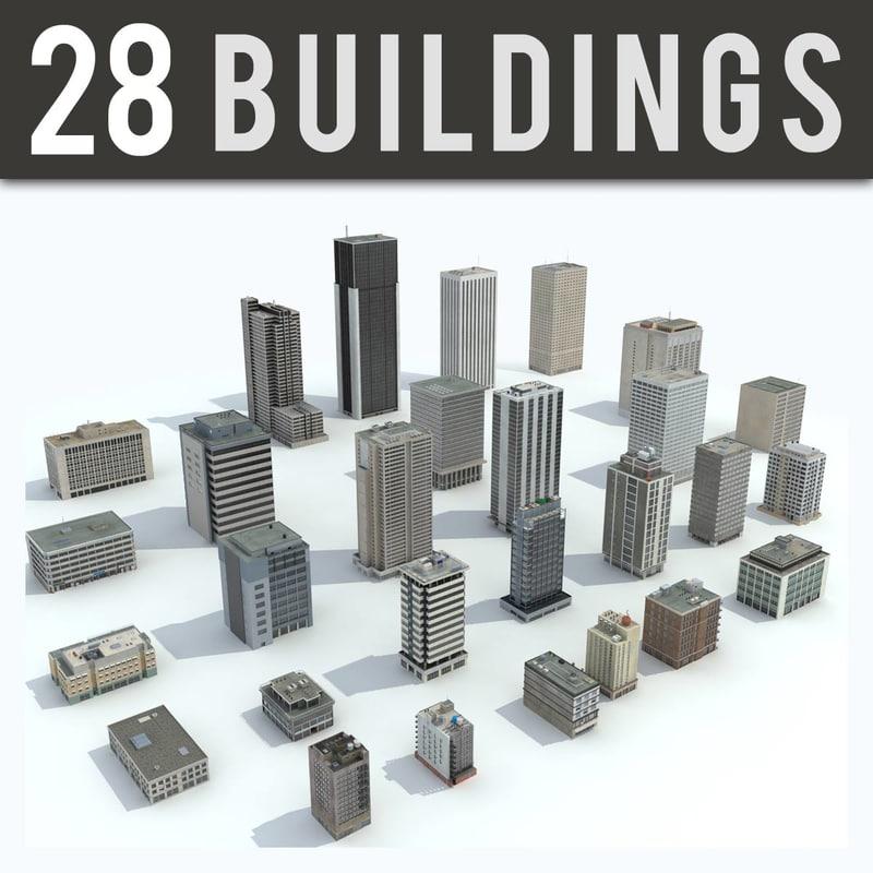 3D office buildings - 28