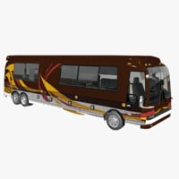 luxury motorhome bus 3D model