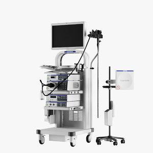 olympus evis exera endoscope 3D model
