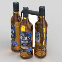 3D grant s whisky
