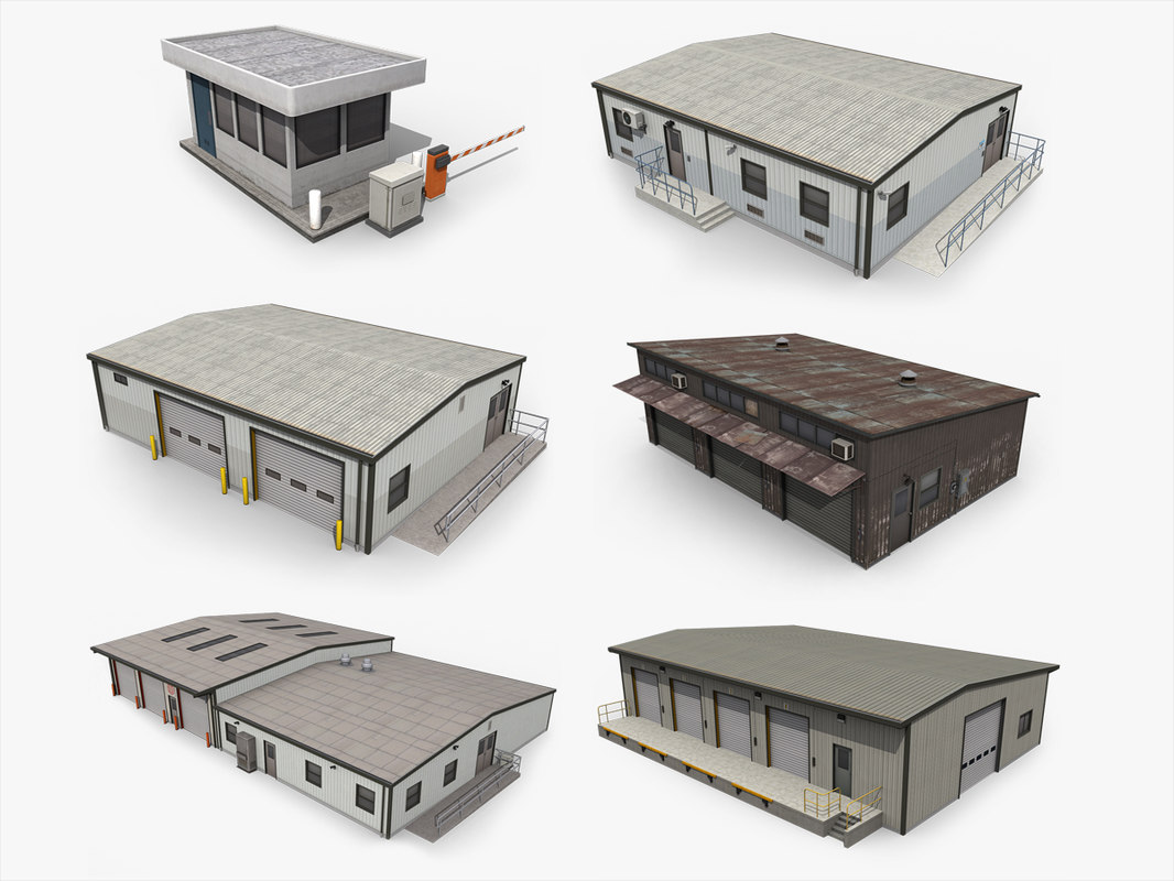 3D industrial buildings pack