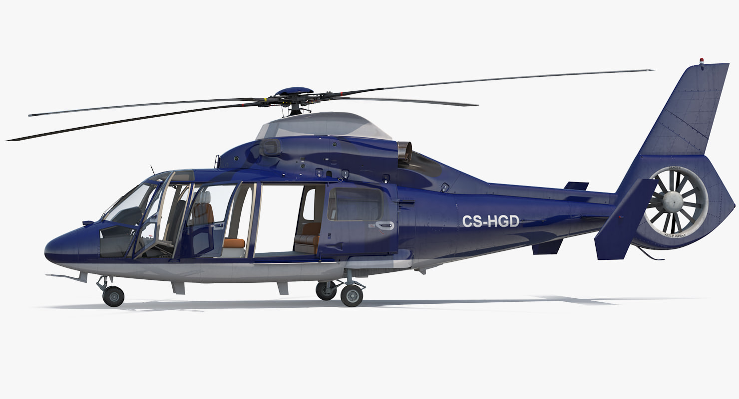 civil helicopter eurocopter as365 3D