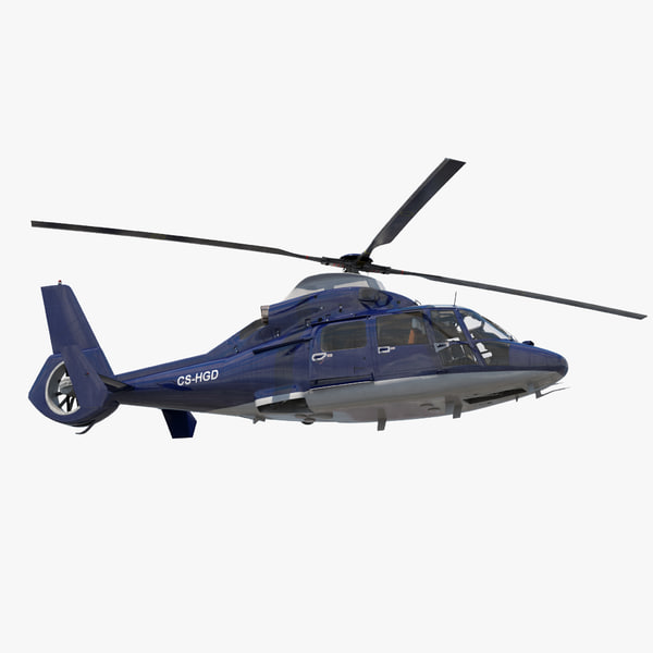 civil helicopter eurocopter sa 3D model