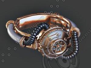 3D steampunk bracelet 3 model
