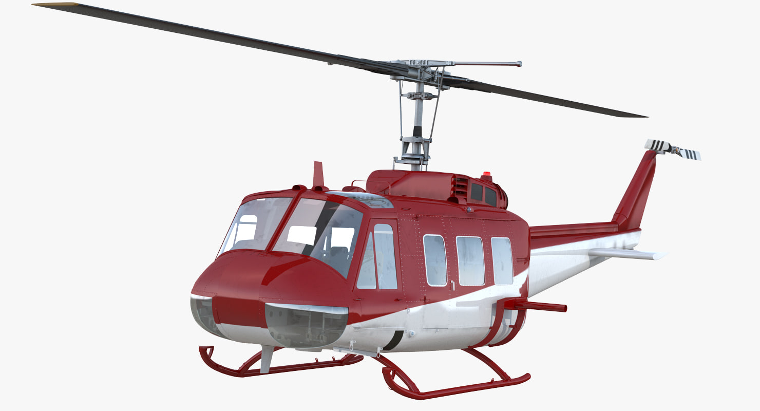 air medical helicopter bell 3D model