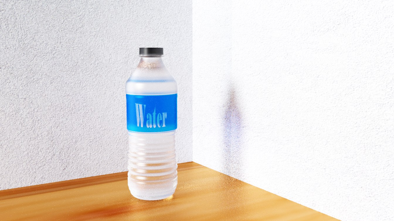 3D plastic water bottle model