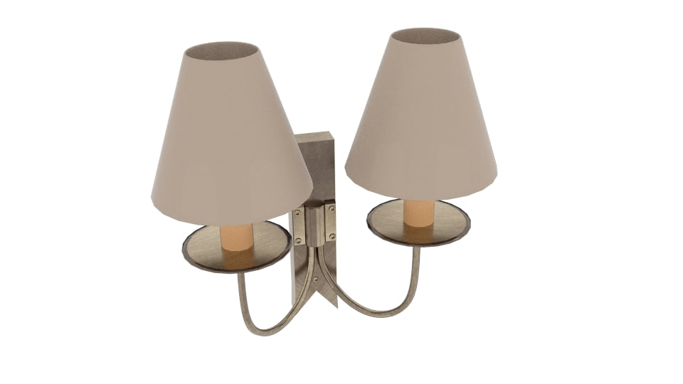 double cottage wall light model