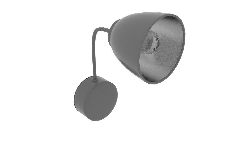 3D attach wall lamp model