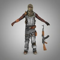 3D model somali pirate