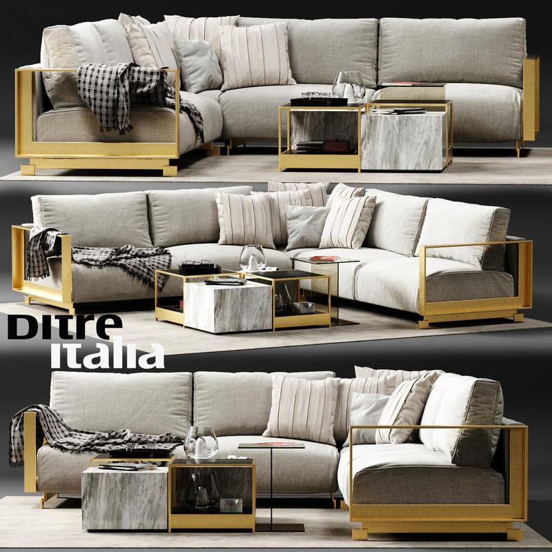 3D ditre italia bag sofa