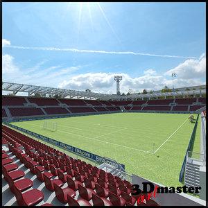football soccer arena 3D model