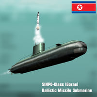 3D north sinpo class submarine