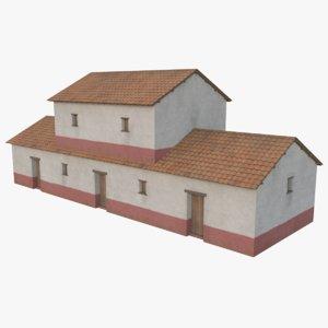 3D roman building 2 model