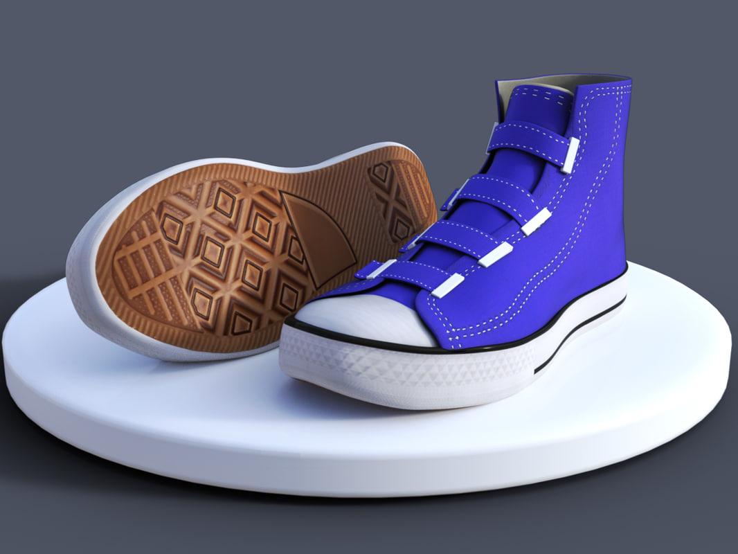 canvas shoes model