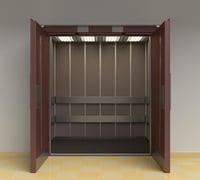 3D vintage elevator doors model