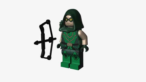 lego green arrow 3D