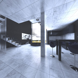 loft scene 3D model