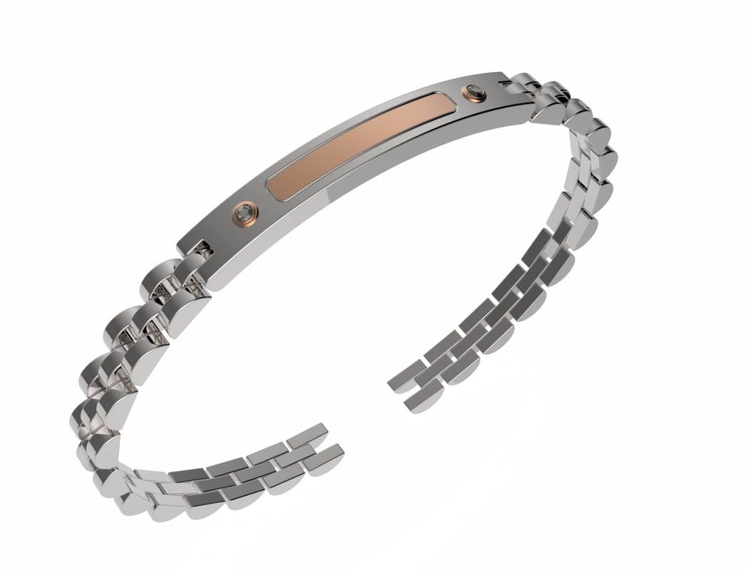 3D men bracelet plate