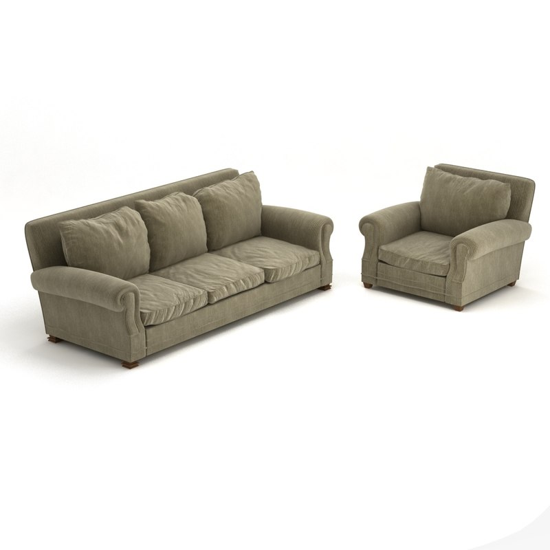 3D model sofa chair fat traditional