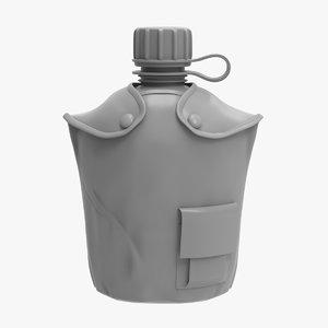 flask 1 qt cloth 3D model