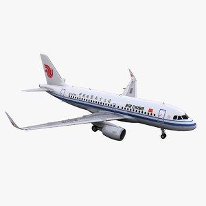 3D a319 air china model