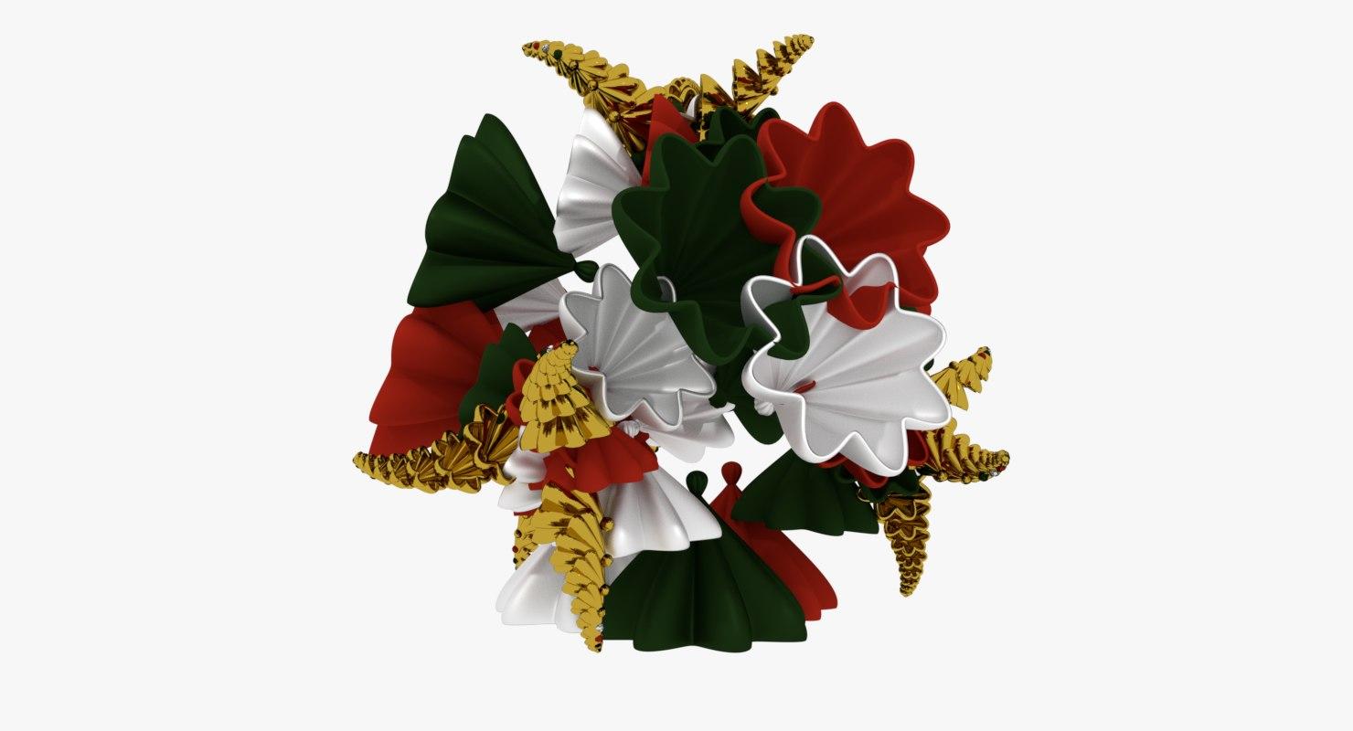 3D model marry christmas souvenir