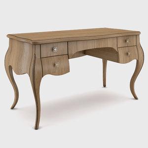 3D seven sedie desk model