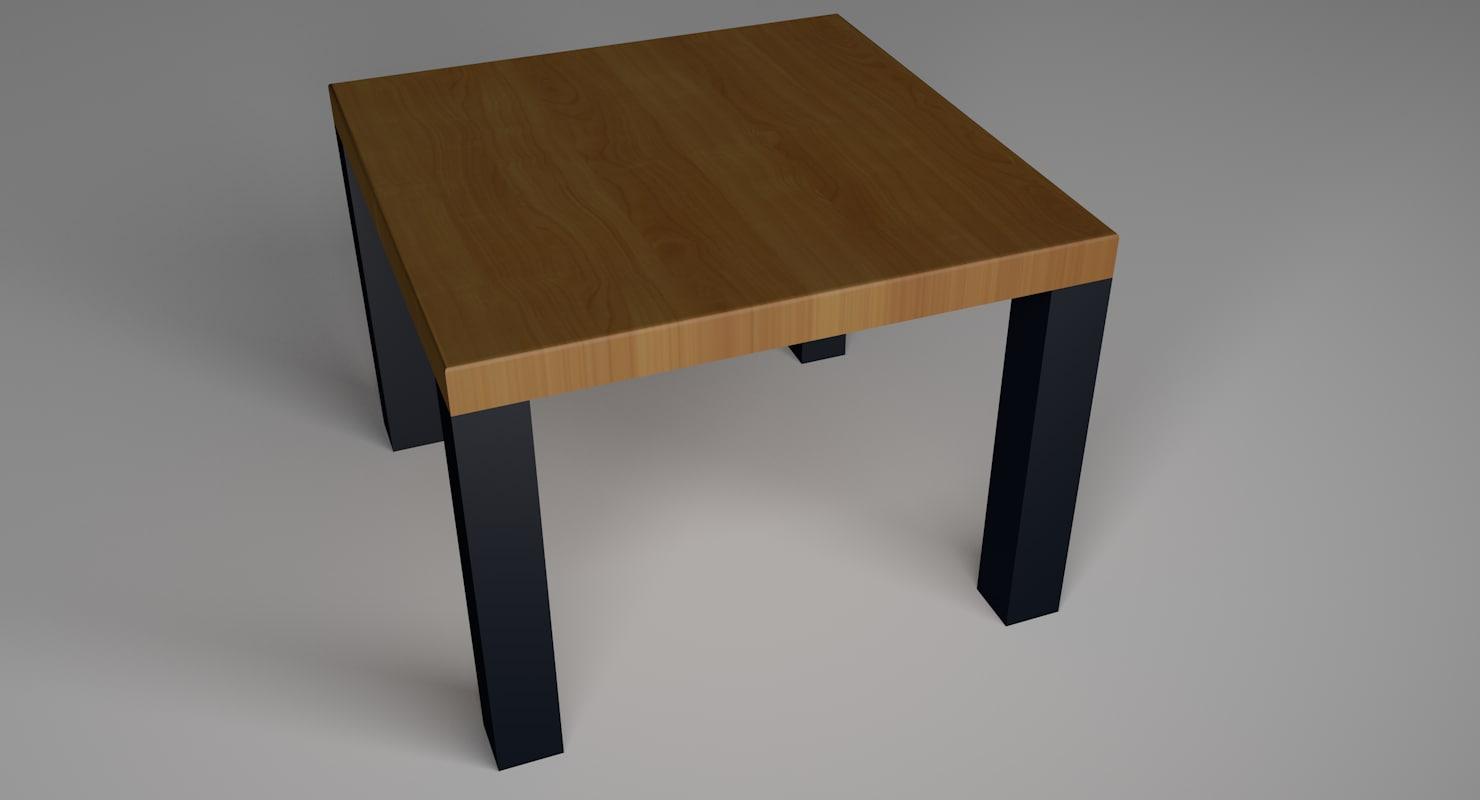 3D stool wood b1