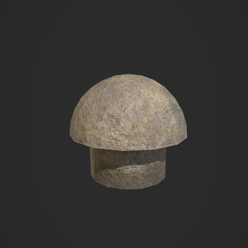 mushroom barrier 3D model
