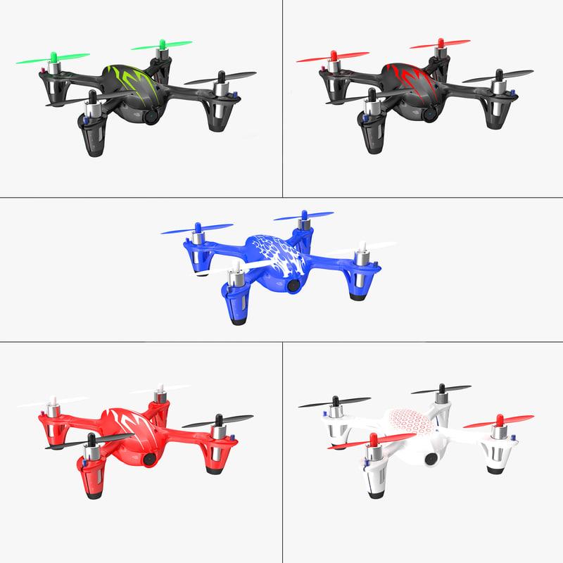 hubsan x4 h107c 3D model