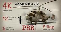 3D kamov ka-27 helicopter