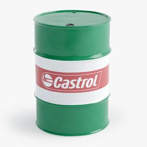 3D oil barrel castrol model