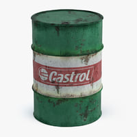 old oil barrel castrol 3D model