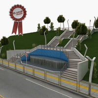 city park stairs model