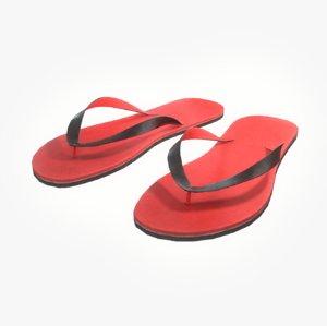 3D model flip-flop pbr