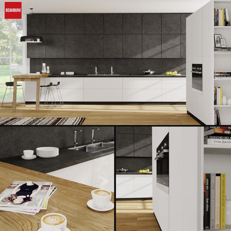 3D kitchen scavolini scenery model