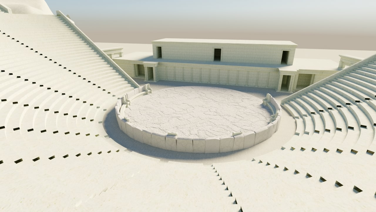 3D greek theatre