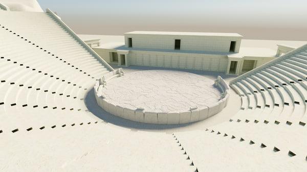 3D greek theatre