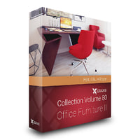 CGAxis Models Volume 80 Office Furniture II FBX OBJ