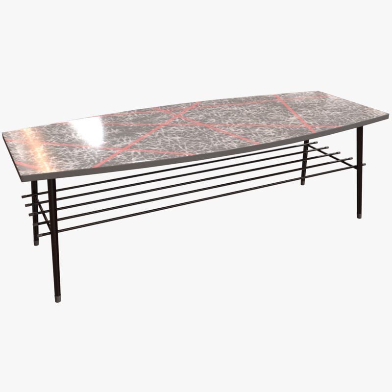 Low Poly Vintage 50s Coffee Table Model