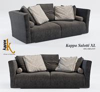 sofa kappa salotti xl 3D model