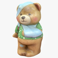3D bear ornament