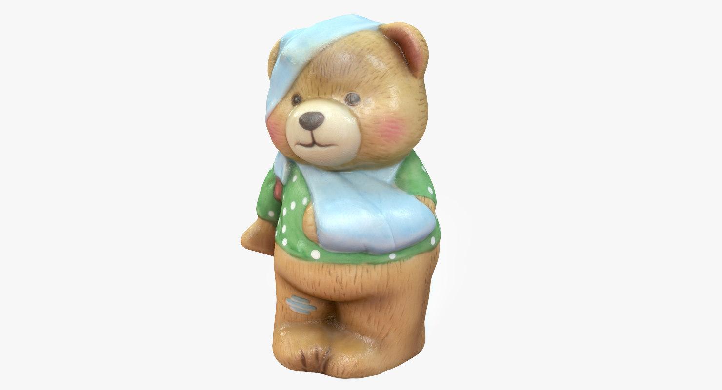 3D bear ornament