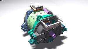 3D engine electric locomotive dta-1200 model