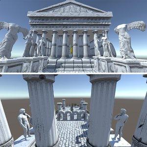 3D architecture ancient greek city pack model