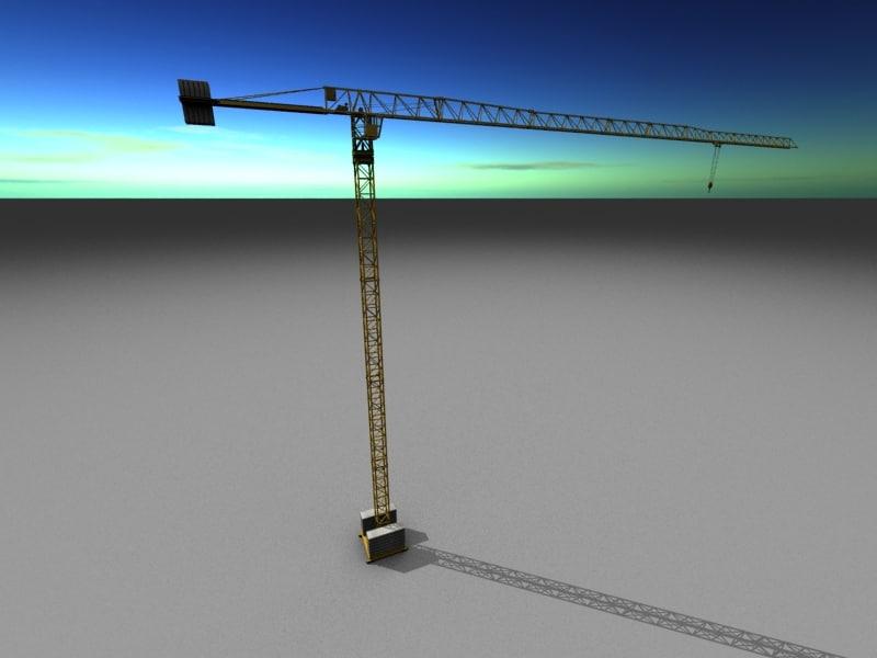 3D tower cranes