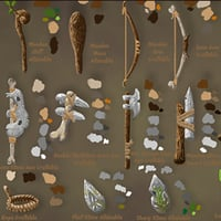 3D model primitive tools crafting pack