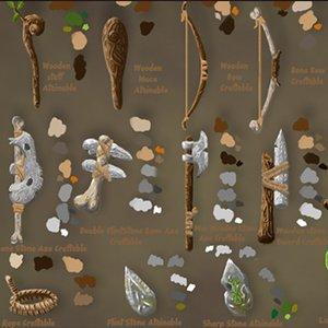 3D model primitive tools crafting pack